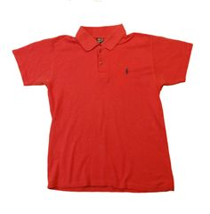 Ralph Lauren polo sport shirt mens Red 100% cotton size M logo . #RalphLauren #PoloRugby #tshirt #polo #shirt