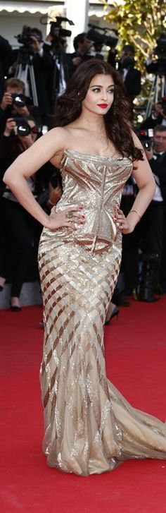 Aishwarya Rai Bachchan at Cannes Film Festival 2014 (Red Carpet) #AishwaryaRai #Cannes #RedCarpet  Indian actress Aishwarya Rai Bachchan poses at the 67th edition of the Cannes Film Festival in Cannes, southern France, on May 20, 2014.