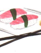 Izak Zenou #illustration #delicious #foodillustration #recipeillustration #menu #kitchen #sushi #japan #trafficnyc visit www.traffic-nyc.com #Wallart #licensing