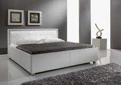 Polsterbett Sandra #weiß #Möbel #Polsterbett #Bett #Schlafzimmer