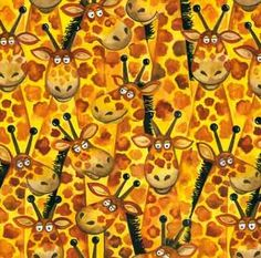 Jungle Buddies II #399. Giraffe fabric. $9.50 per yard.
