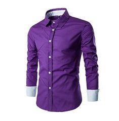 2017 New Fashion Brand Men Shirt Grid 10 Colors Dress Shirt Long Sleeve Slim Fit Camisa Masculina Casual Male Shirts Model White Slim Fit Dress Shirts, Slim Fit Dresses, Fitted Dress Shirts, Formal Shirts For Men, Casual Shirts, Men Shirts, Shirt Men, Striped Long Sleeve Shirt, Long Sleeve Shirts