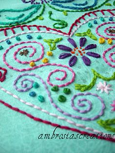 Learning Embroidery. I used to embroider years ago. Glad to find somewhere to refresh my memory...I have to re-learn!