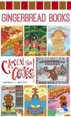 children's books List of books that feature gingerbread man characters readers will love. Preschool Books, Preschool Christmas, Christmas Activities, Winter Activities, Preschool Activities, Activities For Kids, Creative Activities, Creative Play, Gingerbread Man Book