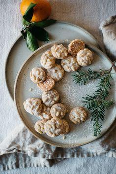 SATSUMA + ROSEMARY PIGNOLI NUT COOKIES (GLUTEN + DAIRY FREE)