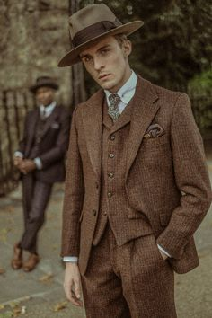 Tweed Suits, Mens Suits, Mens Attire, Mode Punk, Style Masculin, Suit Fashion, Fashion 1920s, 40s Mens Fashion, Victorian Fashion