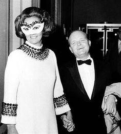 Katharine Graham and Truman Capote at Truman Capote's legendary Black and White Ball, New York, 1966