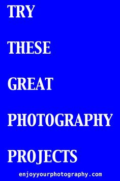 Try these twelve great photographic projects, and see how much will they challenge you. Some are short ones that won't take long you long to complete. Others should take you longer, but they should all be enjoyable and fun. There's a lot of variety in this group of projects which should keep them interesting.  #photographicprojects #greatphotographicprojects Photography Projects, Outdoor Photography, Animal Photography, Photo Projects, Fun Projects, How To Take Photos, Great Photos, Graphic Projects, Challenges