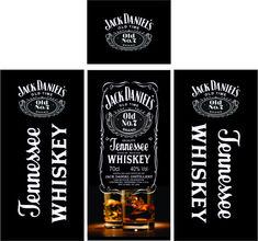 Vetores para Geladeira Envelopamento | Arte no Corel Jack Daniels No 7, Jack Daniels Distillery, Fridge Decor, Oldest Whiskey, Whiskey Brands, Tennessee Whiskey, Bottle Design, Beer Bottle, Iphone