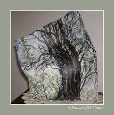 """Lab Art: """"A PASSION FOR TREES"""" ~ Salvaged, and transformed, cast-off plaster from Orthotic & Prosthetic lab(s). created: 2002 Jo Ann Smith-Young"""