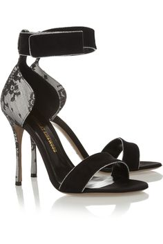 Nicholas Kirkwood|Suede, lace and satin sandals | Spring Summer 2014 ~ Cynthia Reccord