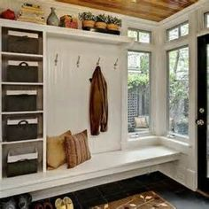 Painting Wood Paneling Ideas - For  a garage corner