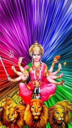 Maa Durga Image, Durga Maa, Durga Goddess, Gaia, Jai Mata Ki, Kali Hindu, Ambe Maa, Vaishno Devi, Krishna Leela