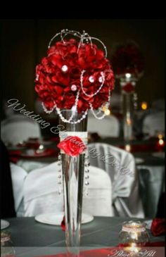 Rose centerpiece Wedding Elegance by Design Rose Centerpieces, Centerpiece Wedding, Raspberry, Fruit, Elegant, Design, Classy, Design Comics, Chic