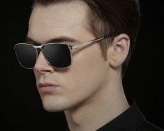 Luxusné pánske polarizované slnečné okuliare so sivým rámikom0 Mens Sunglasses, Fashion, Moda, Fashion Styles, Men's Sunglasses, Fashion Illustrations