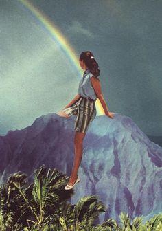 beth hoeckel - Collage art - Rainbow
