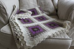 I love the colors of this granny square blanket.