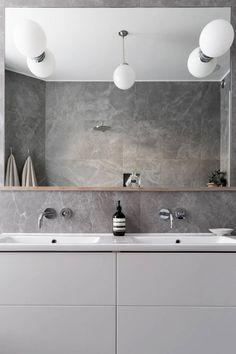 Modern Laundry Rooms, Modern Master Bathroom, Laundry In Bathroom, Bathroom Inspo, Bathroom Inspiration, Bad Inspiration, Interior Concept, Laundry Room Organization, Beautiful Bathrooms