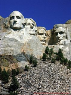 Mount Rushmore in South Dakota USA  | The 100 Most Famous Landmarks Around The World #travel