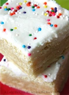 Sugar Cookie Bars, because I could pin sugar cookies all day long and I'd never get bored.