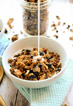 "If ever there were a reason to overuse the word blissful on a blog that's already titled Blissful Basil, this granola is it. I nearly called this recipe ""Life-Changing Blueberry + Buckwheat Granola"" because it is just that amazing, but that title might be a twinge over the top. That is, until you've had the..."