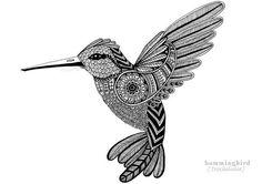 Hummingbird zentangle