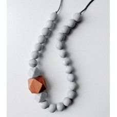 Bubba Chew Marble and Beechwood Necklace