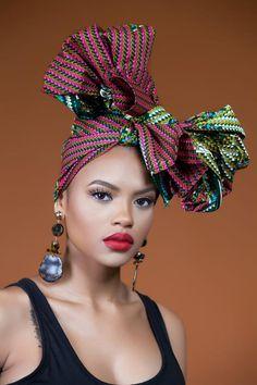 African Print Chaga Headwrap