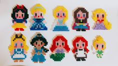 Disney Princess perler beads by r.w_mom