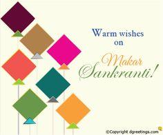Warm wishes on Makar Sankranti. Makar Sankranti Message, Hindu Festivals, Funny Facts, Mixtape, Best Quotes, Wish, First Love, Messages, Diy Cards