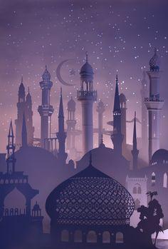 unisabusiness Magazine - Issue 3 by Serrin Ainslie, via Behance Islamic Wallpaper Iphone, Islamic Quotes Wallpaper, Wallpaper Backgrounds, Islamic Posters, Islamic Art, Wallpaper Ramadhan, Ramadan Poster, Mosque Silhouette, Ramadan Background