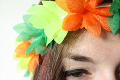 DIY flower crown easy cheap tutorial