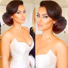 Elegant hairstyle for bride
