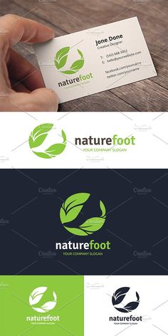 Nature Foot Care Templates **Logo Template Features **---- 100 Scalable Vector Files- Everything is editable- Everything i by Super Pig Shop care Garden Care, Create Logo, Logo Simple, Water Logo, Leaf Logo, Co Working, Pencil Illustration, Feet Care, Business Card Logo