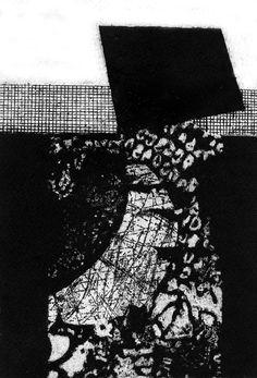 """""""The Moon"""", intaglio, contrast and texture, 2013.- Ksenija Tomičić"""
