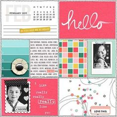 February Memory Pockets Monthly + Hello, Friend – Amber LaBau Designs