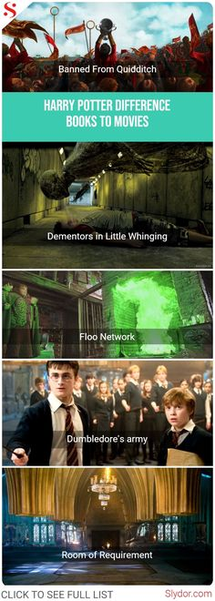 Harry Potter – Difference From Books To Movies II#difference #harry #harrypotter #differences #book #books #movie #movies #bookvsmovie #booksvsmovies #slydor