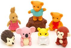 Iwako erasers Forest Animals set 8 pieces from Japan