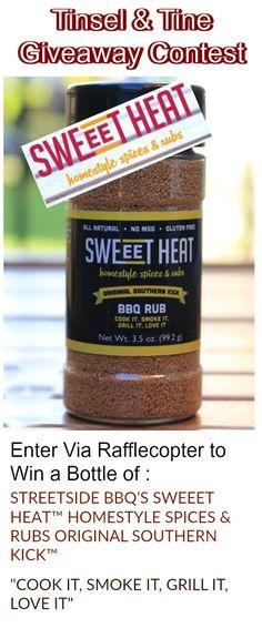 Still plenty of time for good grilling - win a btl of @streetsidebbq1 SWeeT HEAT BBQ Rub