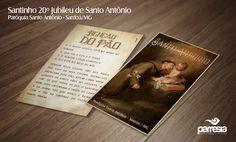 Santinho produzido para o 20º Jubileu de Santo Antônio - Paróquia de Santo Antônio (Sardoá/MG) - Diocese de Governador Valadares