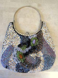 Vintage Multi Colored Beaded Handbag by JewelsOfHighElegance, $10.00