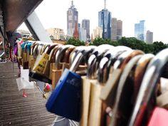 Bridge in Melbourne; Metallic, crowded, Repetitive, bronze, silver, quotes.