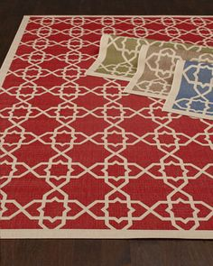 """Locking Hex"" Rug by Safavieh at Horchow.blueSafavieh wow so inexpensive...likely b/c indoor outdoor rug ""Locking Hex"" Rug, 8' x 11'   $379.00 e"