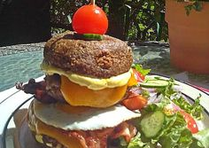 Street Food, Hamburger, Low Carb, Keto, Chicken, Finger Food, Ethnic Recipes, Greece, Tower