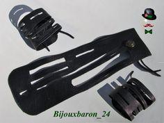 Lederarmband, Used Look, schwarz - Unisex von Bijouxbaron_24 auf DaWanda.com