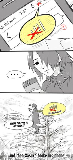 Sasuke vs Phone by i-Shinnie.deviantart.com on @DeviantArt