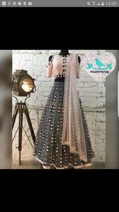 Gleaming Gray And Light Pink Lehenga Choli Pink Lehenga, Indian Lehenga, Lehenga Choli, Sari, Silk Dupatta, Saree Blouse, Anarkali Dress, Pakistani Dresses, Indian Dresses