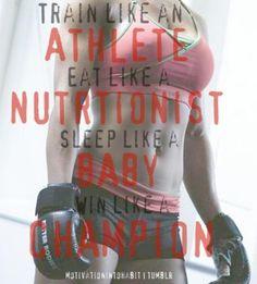 Train like an athlete, eat like a nutritionist