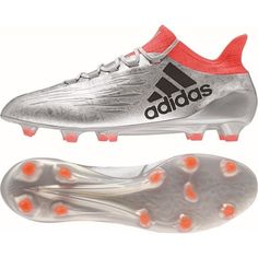 Adidas X 16.1 FG Soccer Cleats Size 9.5 Silver Red S81939 Best Soccer Cleats 6ee5e7839adc