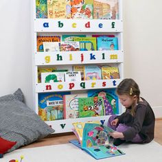 The Tidy Books Childrens Bookcase in White -  Kids do judge a book by its cover! Order now for 25% OFF! - http://www.tidy-books.co.uk/jan-sales